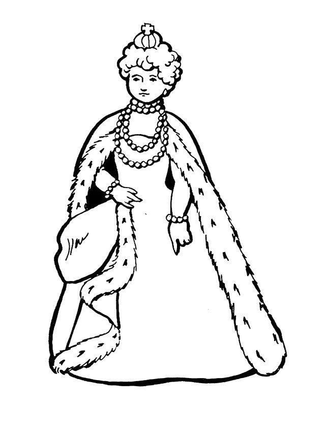 645x860 Charming Queen Coloring Page 43 For Your Coloring Books With Queen