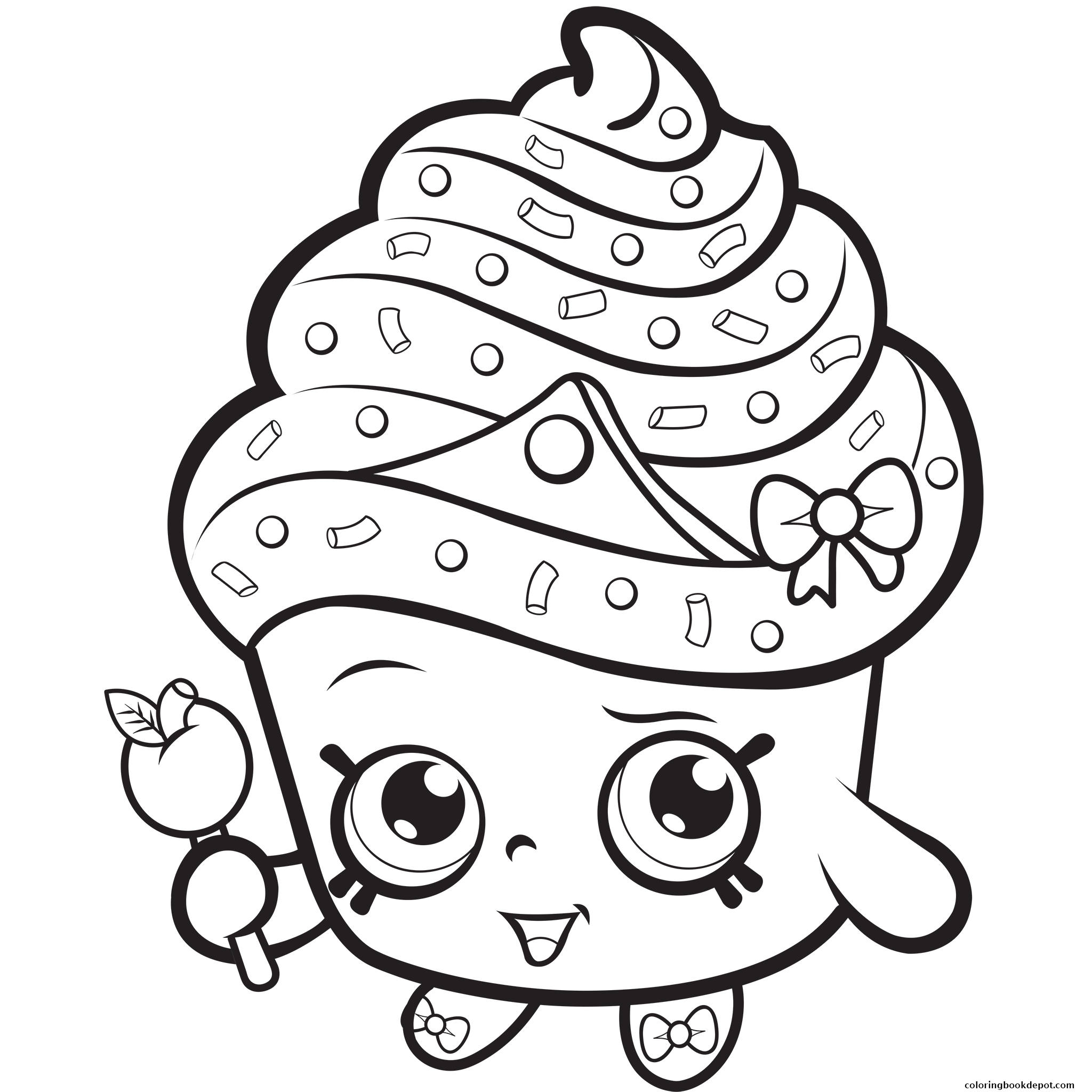 2048x2048 Cupcake Queen Exclusive To Color Coloring Pages