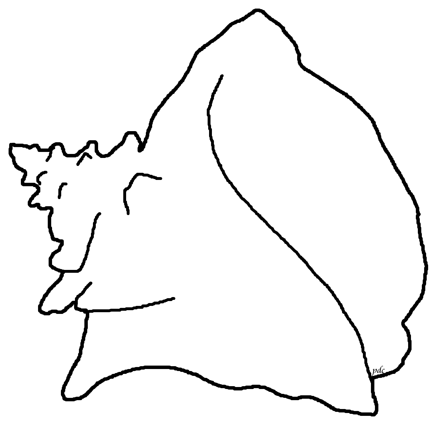1535x1502 Queen Or Pink Conch Coloring Page Seashells By Millhill