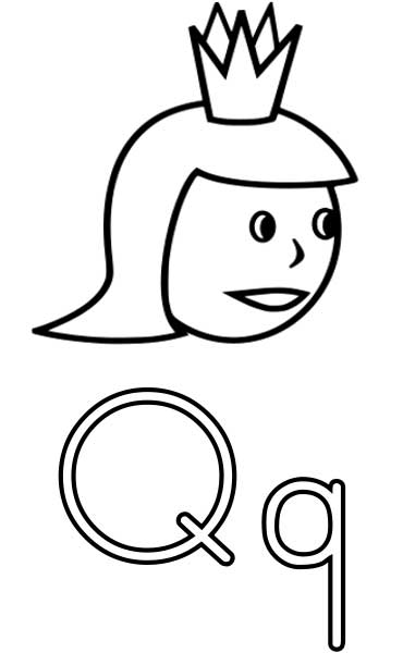 370x600 Queen Coloring Page