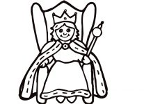207x150 Queen Coloring Page Coloring Free