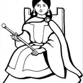 268x268 Spanish Queen Coloring Page Free Royal Family Coloring Pages