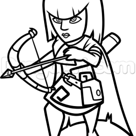 268x268 Archer Queen Coloring Page Kids Drawing And Coloring Pages