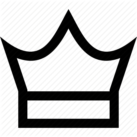 480x480 Crown Clipart Outline Png