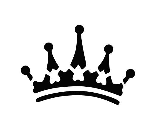 560x460 Crown Svg, Princess Crown Svg, King Crown Svg, Black And Whiite