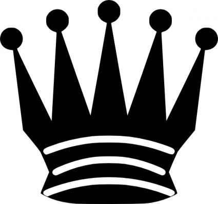 425x398 Nice Crown Clipart Black White Gallery Queen Crown Black