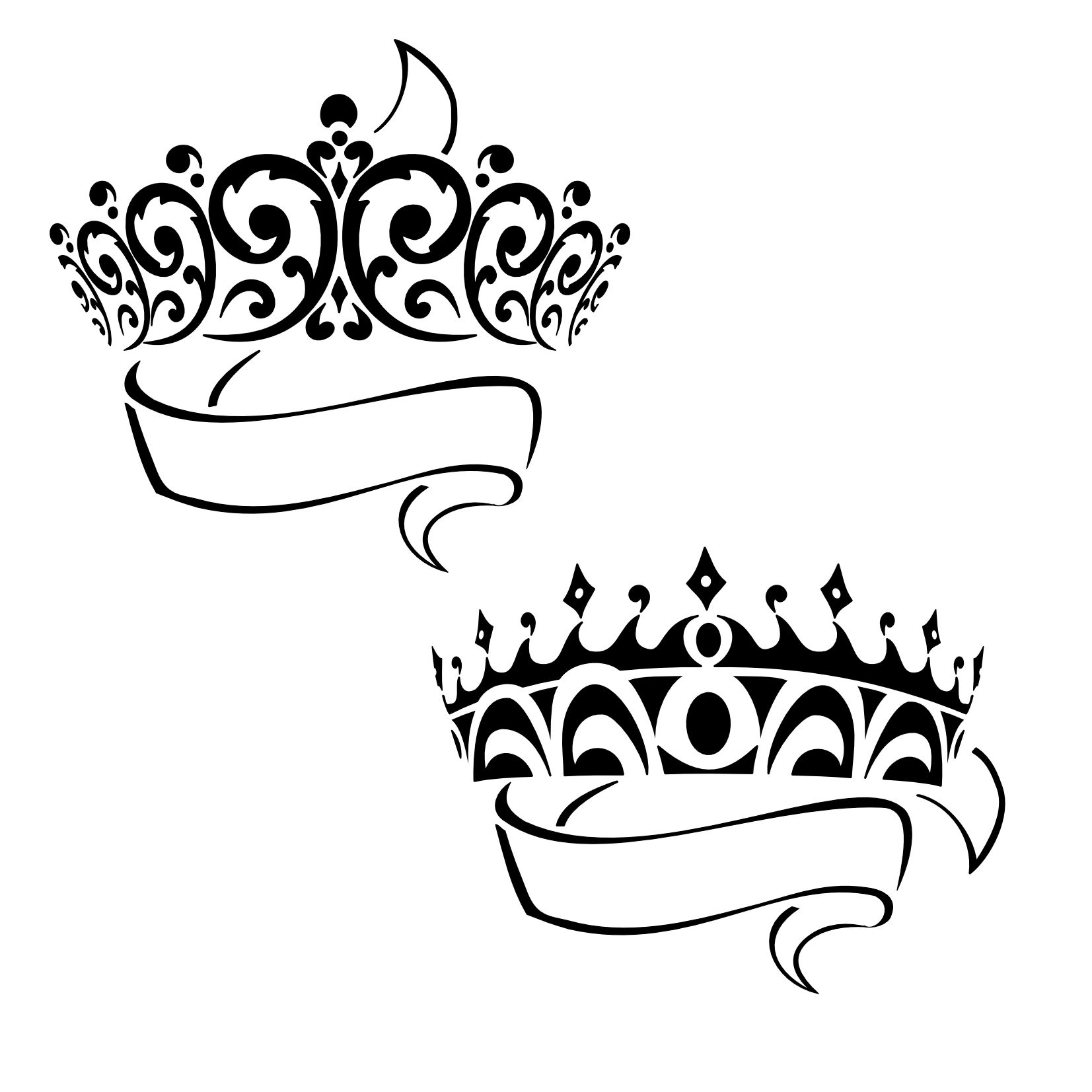1653x1653 Prince And Princess Crown Clipart Clipartfest 3