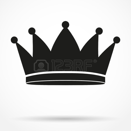 450x450 Silhouette Simple Symbol Of Classic Royal Queen Crown. Vector
