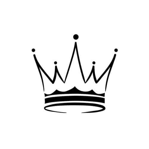 Crown black and white clipart - photo#50