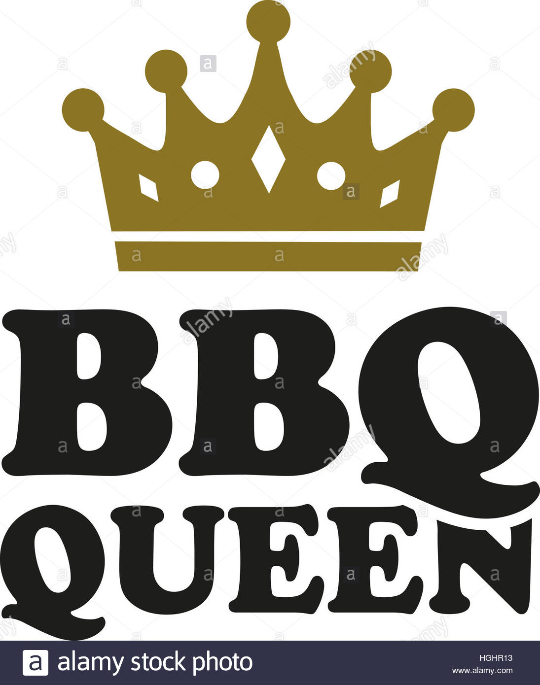1095x1390 Bbq Queen With Crown Stock Photo, Royalty Free Image 130698319