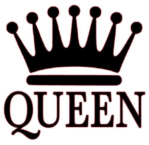 500x485 Queen Crown Vinyl Transfer (Black)