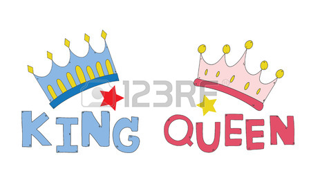 450x270 Couple Crown King And Queen Hand Drawn For T Shirt Couple