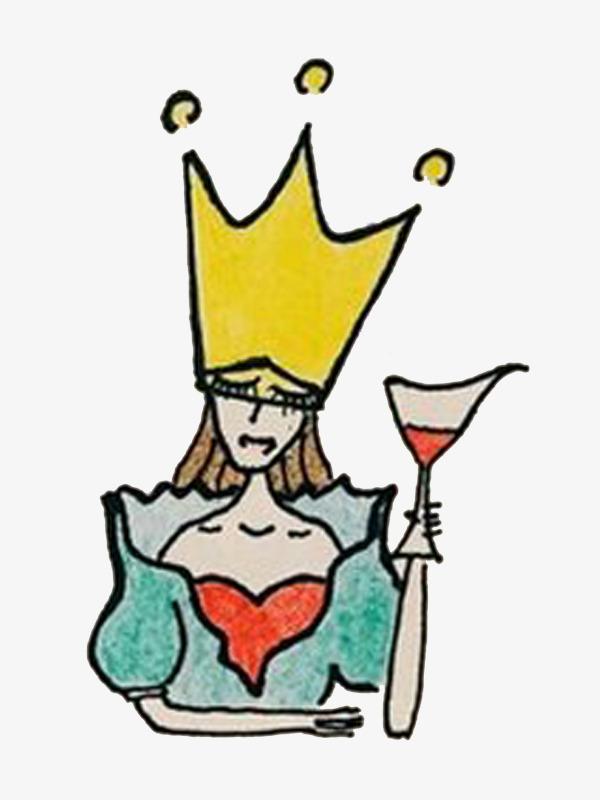 600x800 Hand Painted Queen, Cartoon Hand Painted, Queen, Drink Png Image