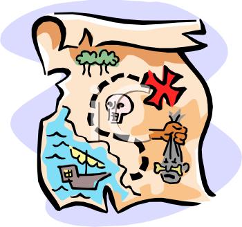 350x328 Map Clipart Quest