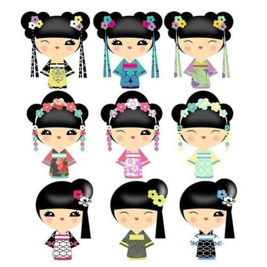 540x540 85 Best Geisha Kokeshi Clip Art Images Hats, Clip