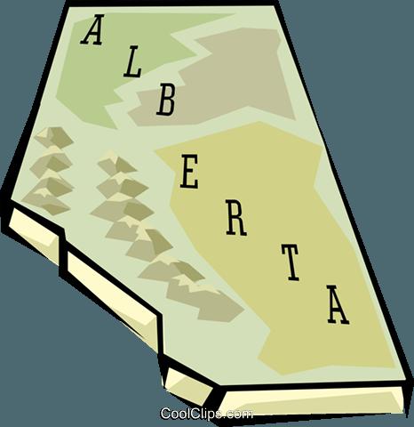 466x480 Alberta Map Royalty Free Vector Clip Art Illustration Worl0635