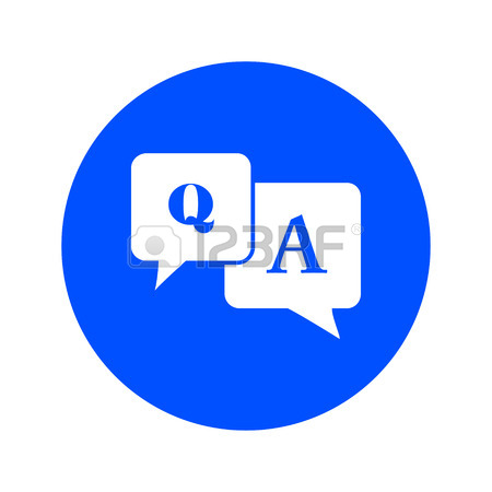 450x450 Qampa Sign Symbol. Speech Bubbles With Question And Answer. Royalty