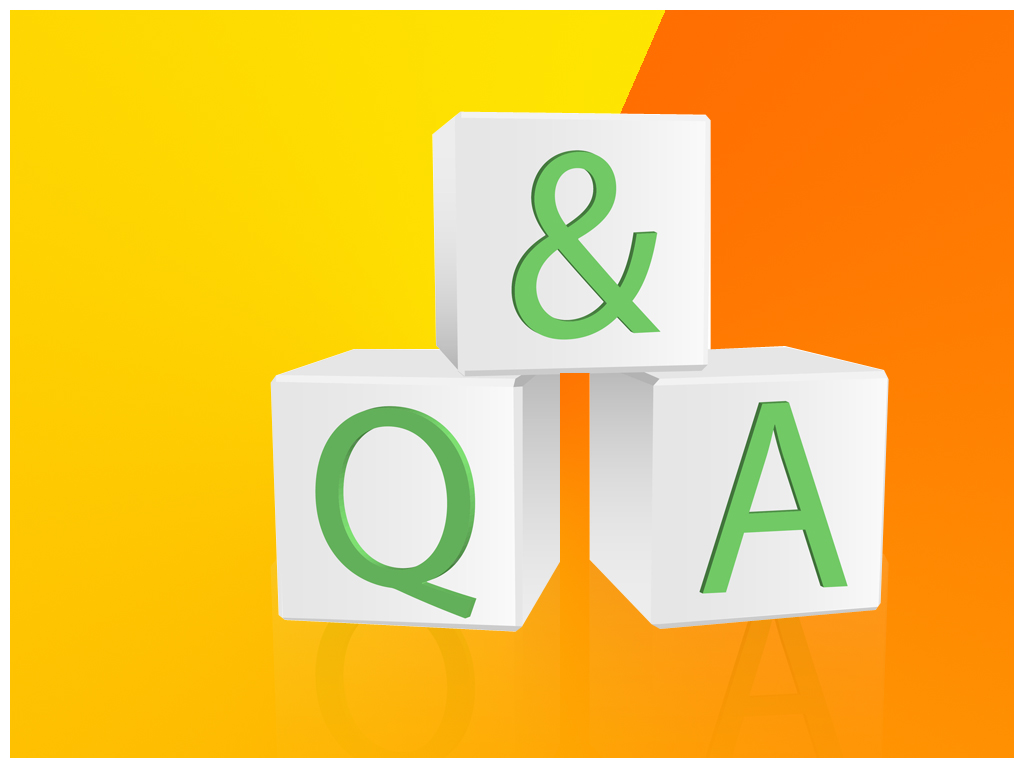 1024x768 Question And Answer Ppt Template, Q Amp A Powerpoint Template