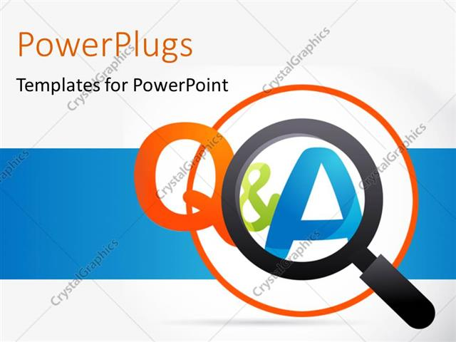 640x480 Powerpoint Template Magnifying Glass With Question And Answer