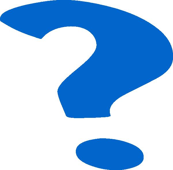 600x590 Blue Question Mark Clip Art