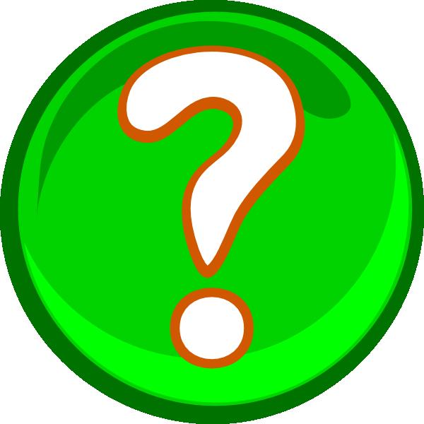600x600 A Green Question Mark Clip Art