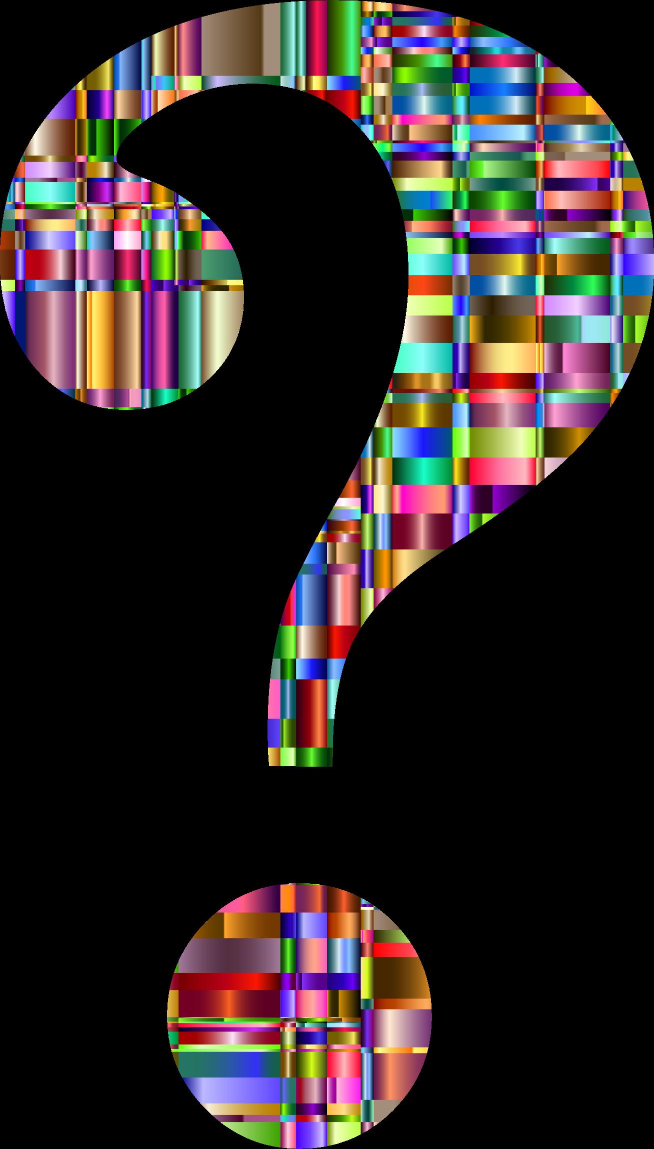1308x2296 Clipart Checkered Chromatic Question Mark