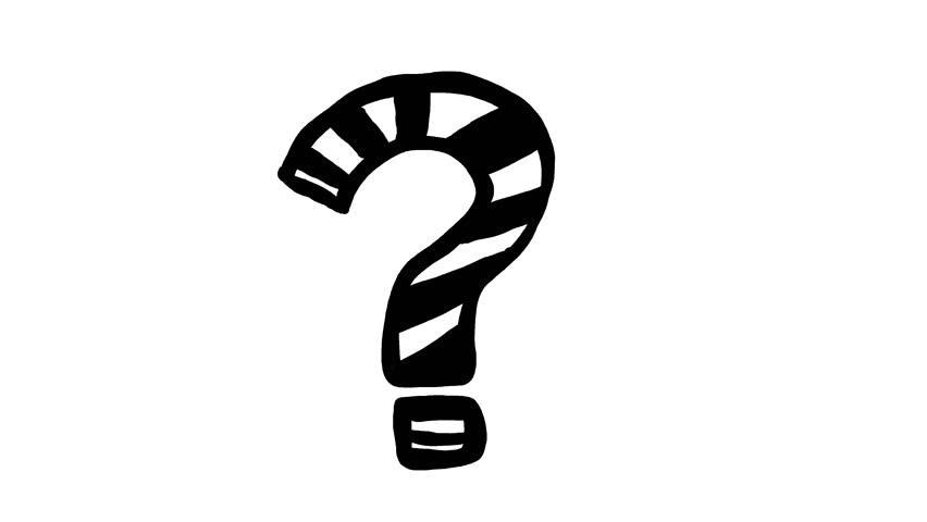 852x480 Question Mark Clipart Hand Drawn