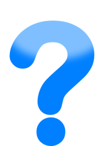 225x297 Blue Question Mark Clipart