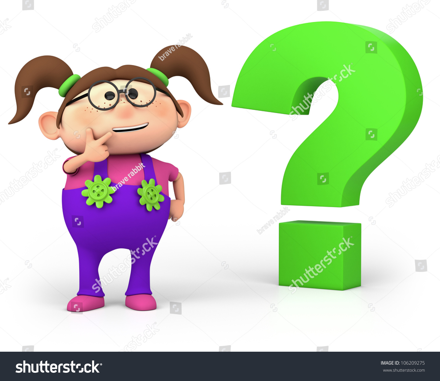 1500x1300 Girl With Question Mark Clipart