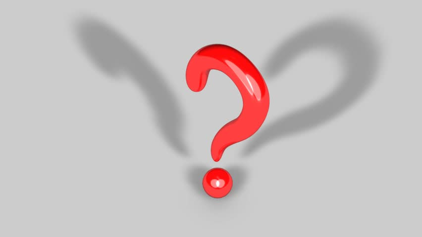 852x480 Concept Animation Of Question Mark. Stock Footage Video 1906411