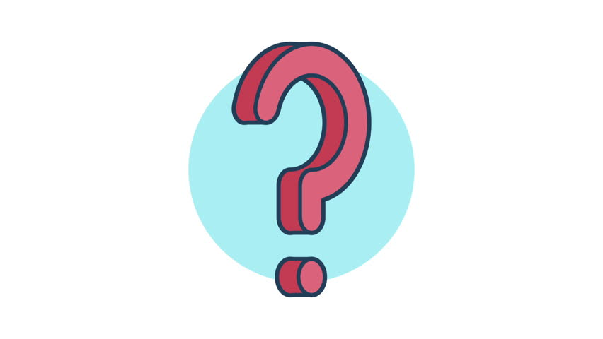 852x480 Hand Drawn Animation Of Question Mark On White Background Stock