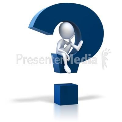 400x400 Stick Figure Sitting In Question Mark Presentation Clipart