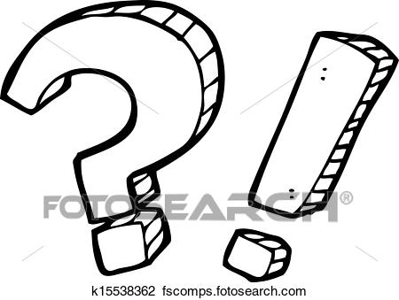 450x339 Clipart Of Cartoon Question Mark And Exclamation Mark K15538362