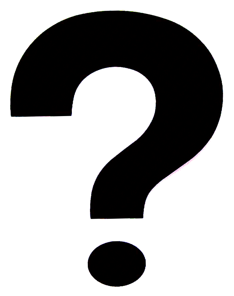 749x946 Question Mark Black And White Clipart