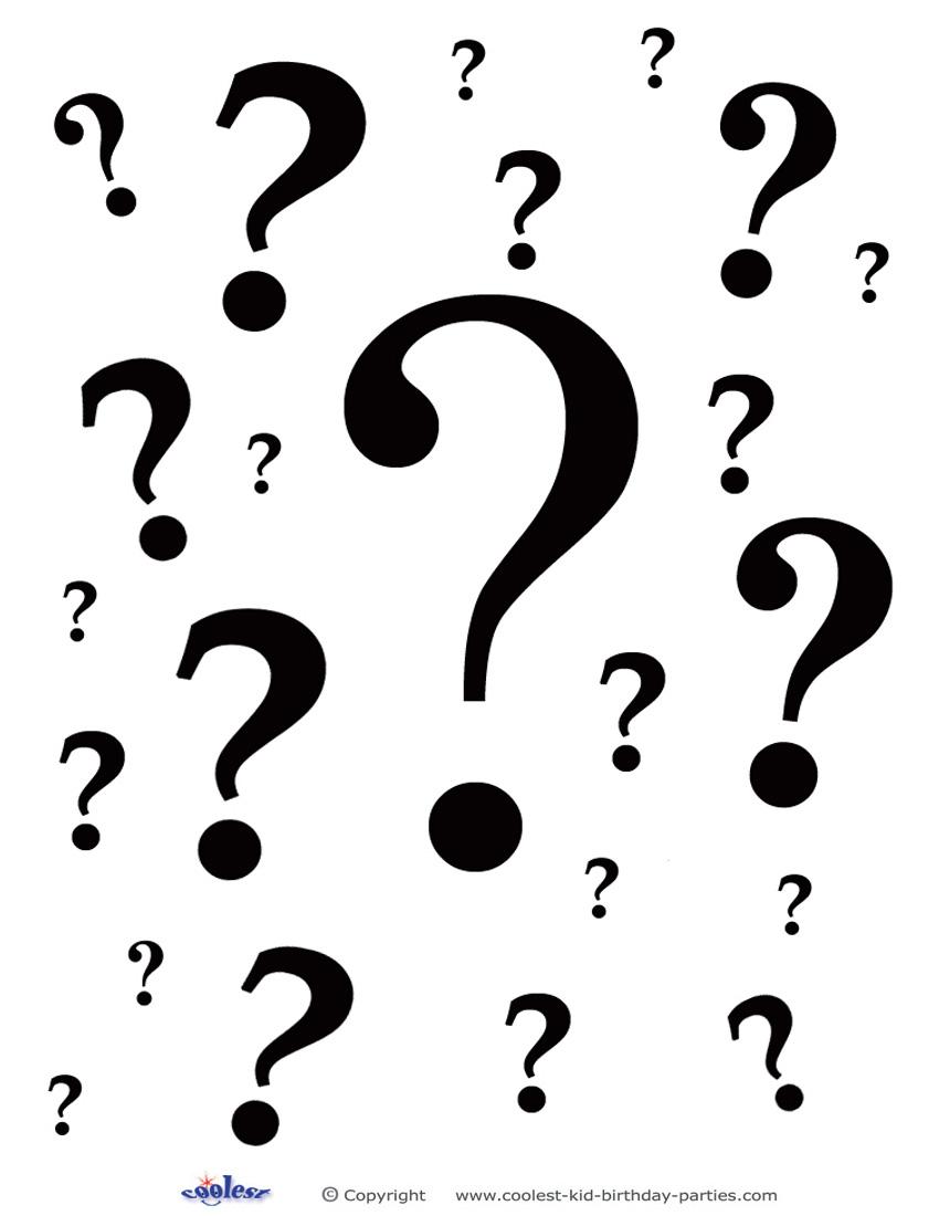 850x1100 Question Mark Clipart