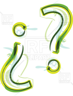 303x400 Green Font Question Mark Royalty Free Vector Clip Art Image