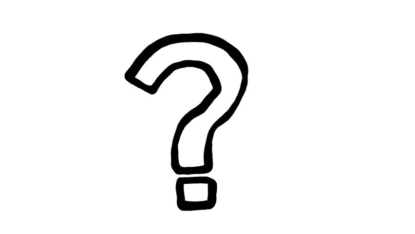 852x480 Animated Character Question Mark With Alpha Channel Stock Footage