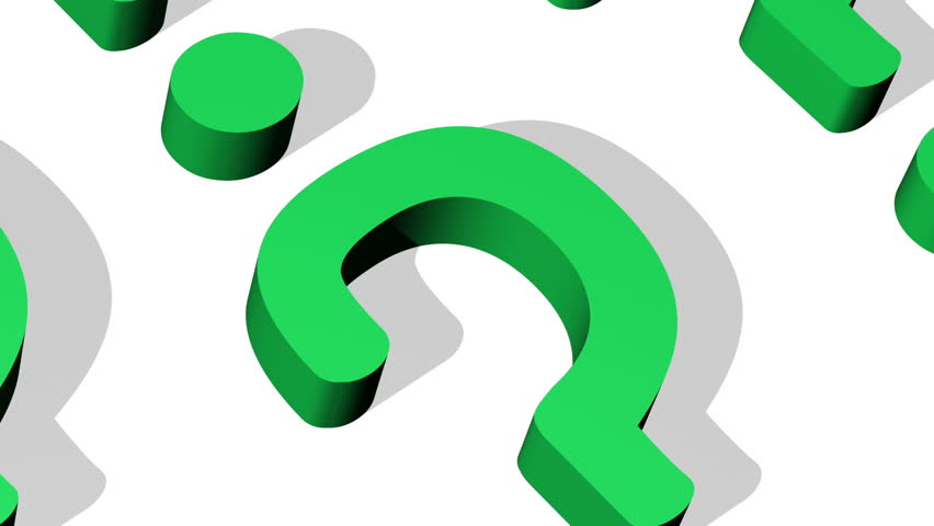852x480 Question Mark Closeup Looping Animated Background Stock Footage