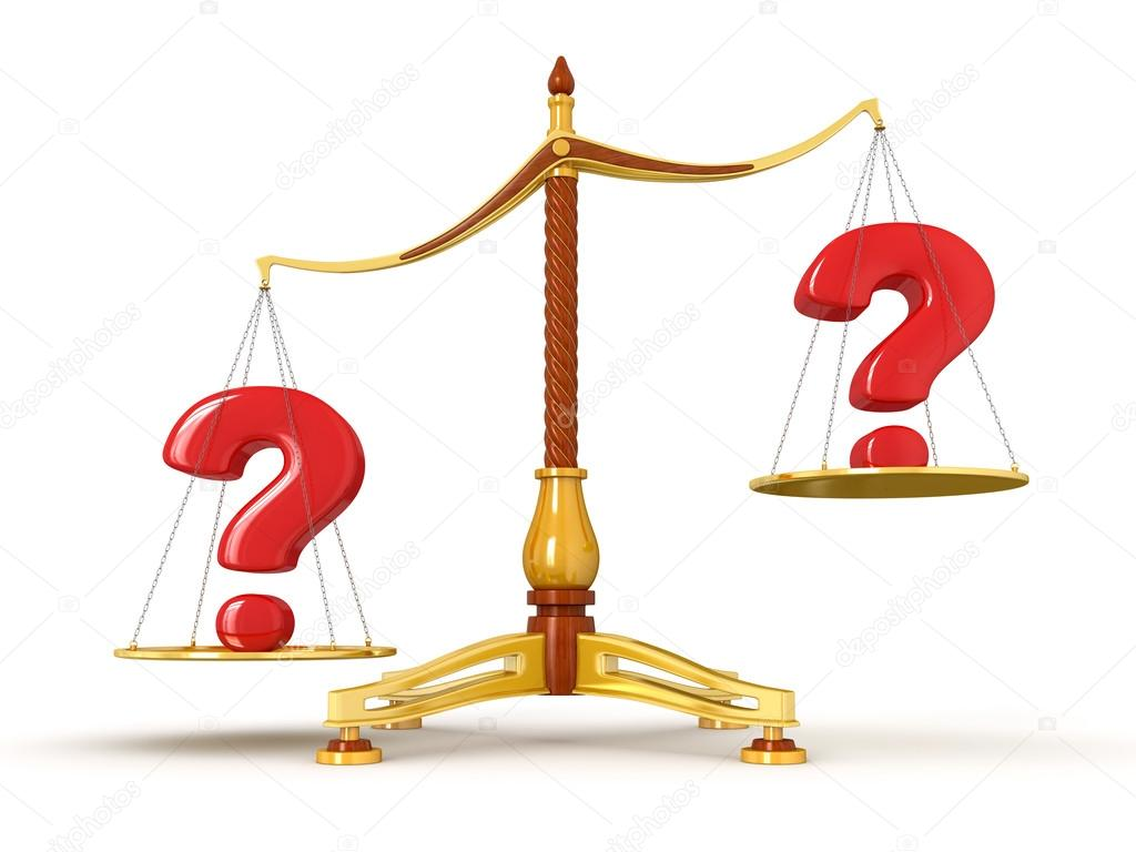 1024x768 Question Marks Same Value On Scales Stock Photo Panama555