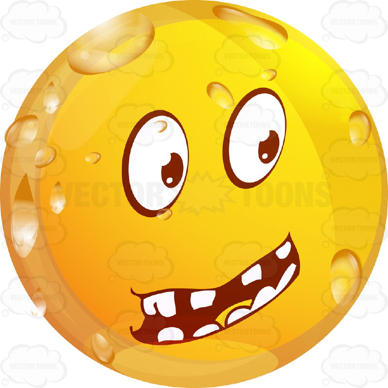 800x800 Questioning Wet Yellow Smiley Face Emoticon With Block Teeth