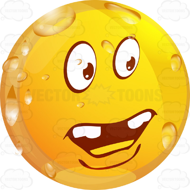 800x800 Questioning, Unsure Wet Yellow Smiley Face Emoticon With Knotted