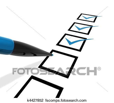 450x405 Clip Art Of Checklist K4427852