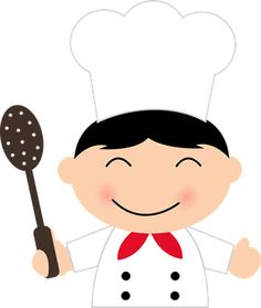 236x279 Girl Chef With Fork Cook Book Divider Photos Clip