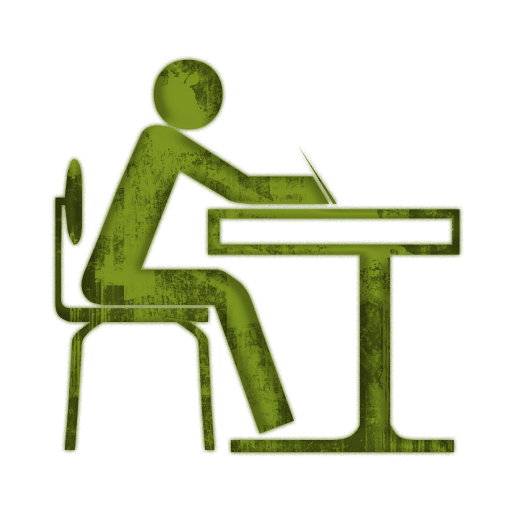 512x512 Student Work Quietly Clipart