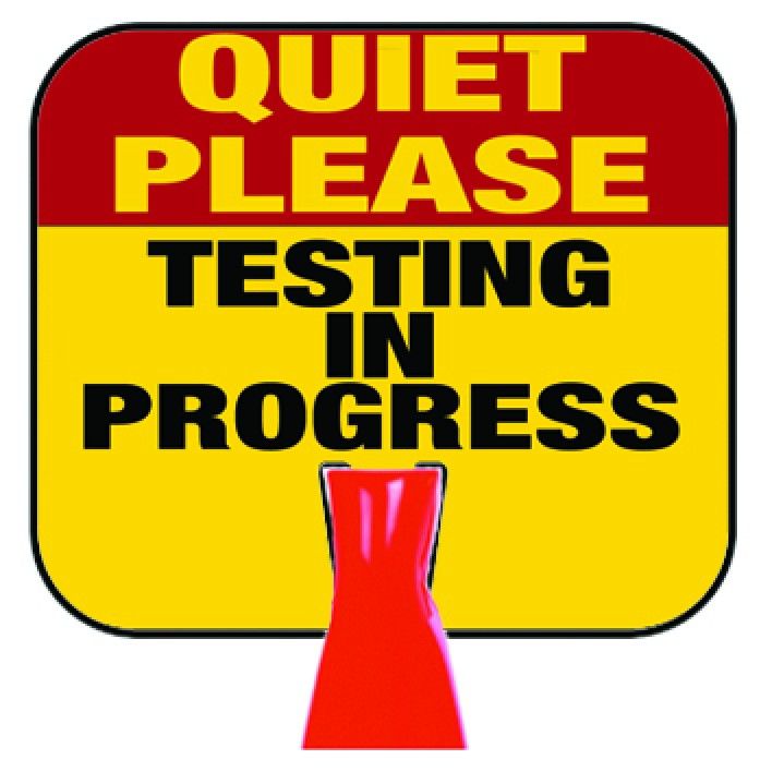 708x708 Please Clipart Quiet Testing