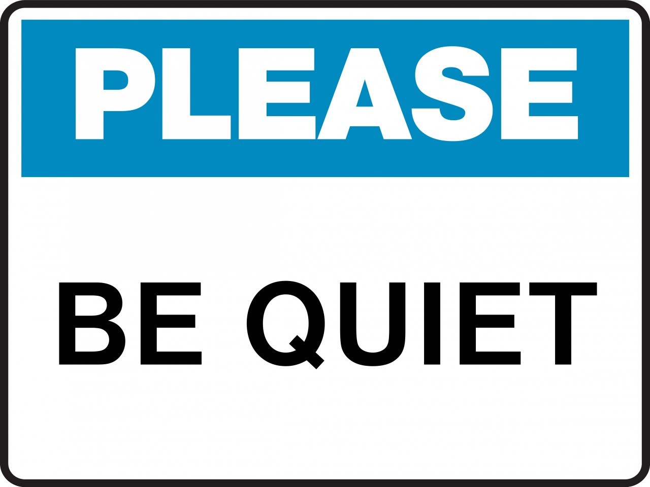 1280x960 Quiet Please Sign Clipart