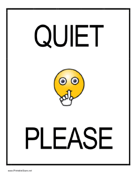 281x364 Quiet Please Sign Clipart