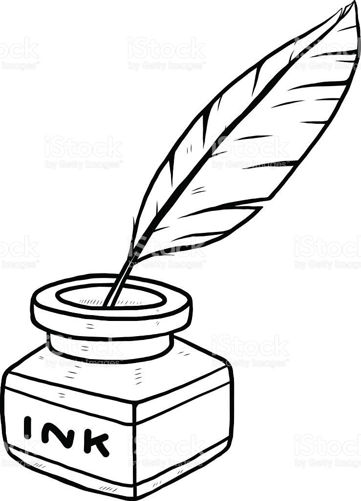 739x1024 Quill Clipart Ink Bottle