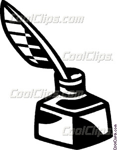 235x300 Ink Well And Quill Pen Vector Clip Art