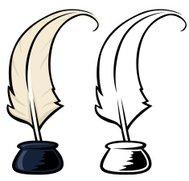 189x181 Cartoon Santa Quill And Scroll Premium Clipart
